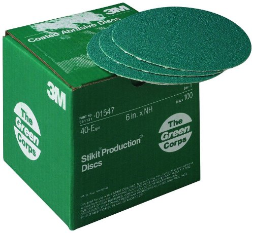 3M 01547 Green Corps Stikit 6'' 40E Grit Production Disc by 3M (Image #1)