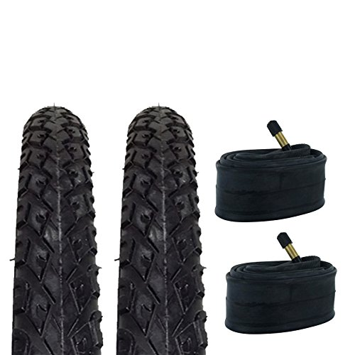 Zol Bundle 2 Pack Z2011 Urban Hybrid Tires and Tube 700x38C, Schrader/American 48 MM Valve