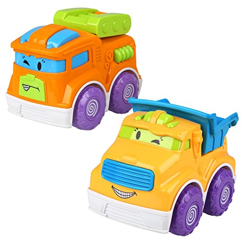 Toy car and dump truck