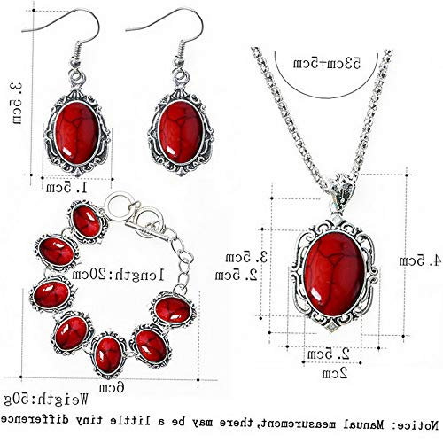 Endicot Fashion Women Owl Tortoise Turquoise Necklace Earring Bracelet Charm Jewelry Set | Model ERRNGS - 4158 |