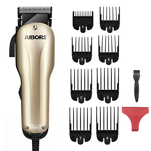 AIBORS Dog Clippers for Grooming for Thick Coats 2-Speed 12V High Power Professional Heavy Duty Quiet Plug-in Dog Grooming Clippers Kit, Dog Shaver Hair Trimmers for Cats and Other Pets