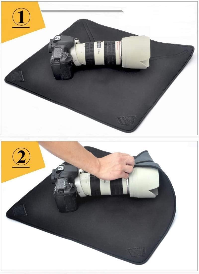 Size 25 x 25cm MEETBM ZIMO,Shockproof Neoprene Bag Magic Wrap Blanket for Canon//Nikon//Sony Camera Lens