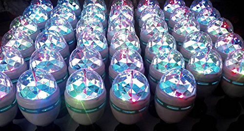 YouOKLight 3-Pack E26 Full Color Rotating Lamp LED Strobe Bulb Multi Crystal Stage Light for Disco Birthday Party Club Bar by YouOKLight (Image #9)