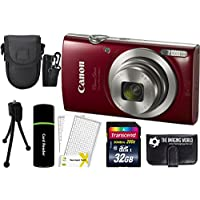 Canon PowerShot ELPH 180 20MP 8x Zoom Digital Camera (Red) + 32GB Card + Reader + Case + Accessory Bundle Review Review Image