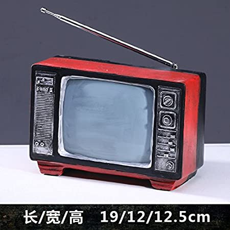 ZSWshop Radio Retro Antigua, TV, máquina de Escribir, máquina de Coser, Adornos de Resina, Modelo nostálgico, Accesorios de Fotos, Decoraciones, Red TV 106: Amazon.es: Hogar