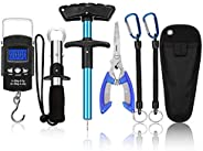 Huante Fish Hook Remover Tools,Handheld Digital Fish Scale Squeeze-Out Fish Gripper Fishing Combo Kit Fish Tac