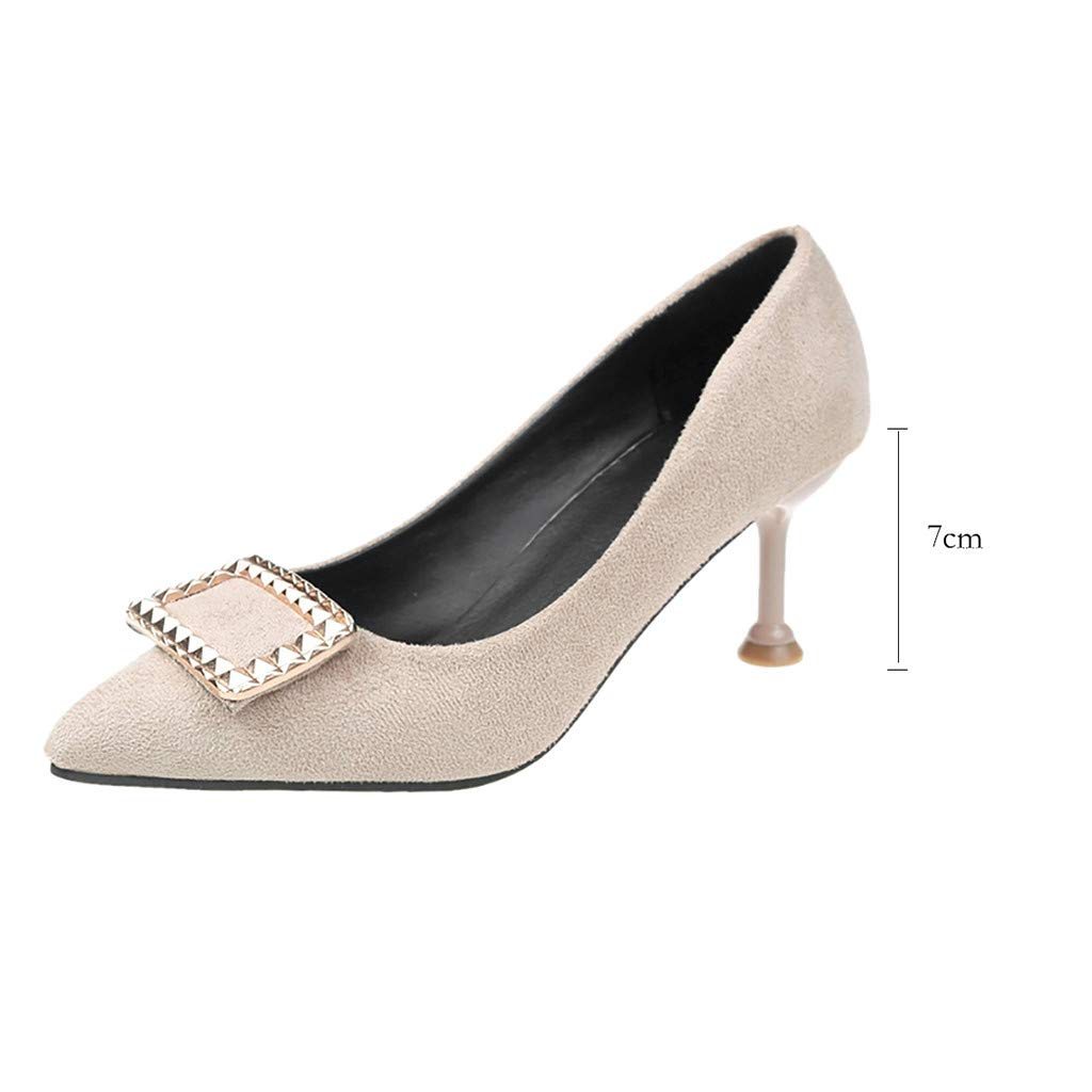 Pengy Woman Pointed Toe Shoes Fashion High Heels Shoes Ladies Office Single Shoes