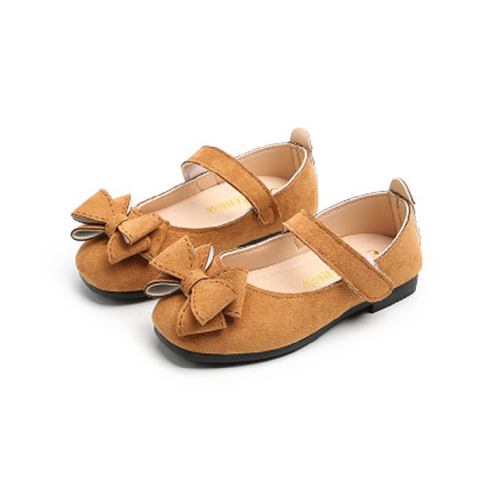 eleganceoo Girls Sandals Mary Jane Shoes with Bowknot