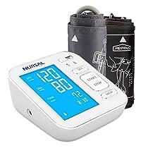 NURSAL – Nuovo Misuratore Digitale della Pressione Sanguigna da Braccio con Cavo USB di Alimentazione e Ampio Schermo Digitale Retroilluminato per 2 Utenti (memorie 2*120)