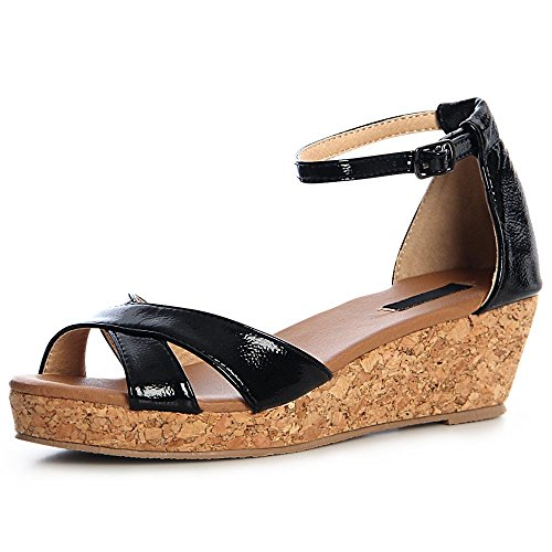 Femmes Topschuhe24 Topschuhe24 Femmes Sandales Sandales Sandalettes Sandalettes Noir Noir 6XnqnRa