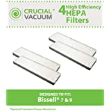 4 Bissell Style 7, 9 HEPA Filter; Compare to Bissell Part No. 32076; Designed and Engineered by Think Crucial