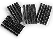 PRO BIKE TOOL Tubeless Tire Repair Kit Refills for Bicycle Tires, 20 Rope Plug Pack - 2 Options - Black or Bac
