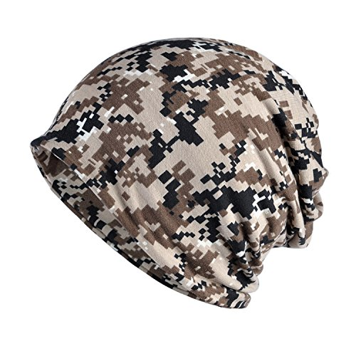 KINGREE Chemo Cap Turban Headwear Womens Soft Beanie Headwrap for Hairloss (Flower 1182-4 Desert Digital) (Desert Digital Bandana)