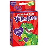 Peaceable Kingdom Scratch and Sniff Dinosaur Valentines - 28 Card Pack