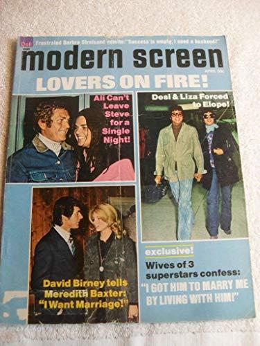 MODERN SCREEN MAGAZINE April 1973 STEVE MCQUEEN DESI LUCY BALL [Paperback] [Jan