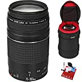 Canon EF 75-300mm f/4-5.6 III Lens with Heavy Duty Lens Case