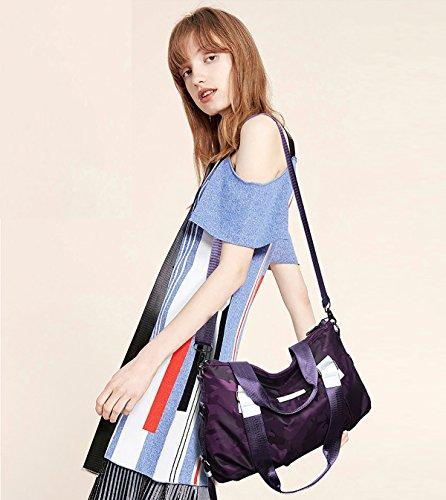da borse borsa viaggio Messenger moda Regina di nuove Oxford Sdinaz 2018 borse donna tela Viola da FxPqYT