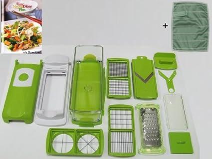 Genius Nicer Dicer Plus - Juego de utensilios de cocina para cortar (14 piezas)