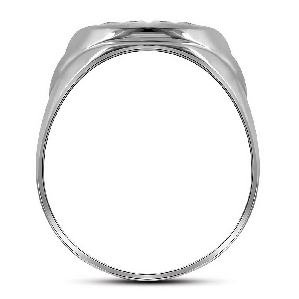 Jewels By Lux 10kt White Gold Mens Round Diamond Oval Cluster Ring 1//4 Cttw Ring Size 10