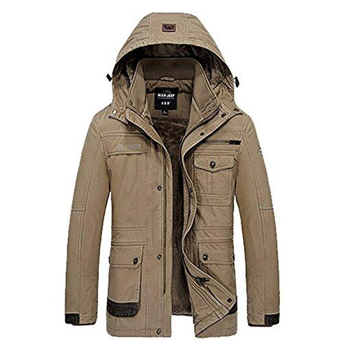 Wardrobe King Casual Long Sleeve Jacket Villi Keep Warm Coat for Men