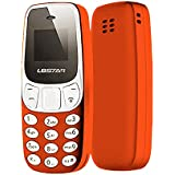 TOOGOO Mini Bluetooth Phone Worlds Smallest Mobile Changer Dual Sim L8Star BM10 U8P3 orange