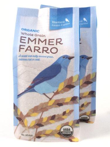 Certified Organic Heirloom Wheat Whole Grain Emmer Farro Washington Pack of 2 454 g 16 oz (Farro Soup)