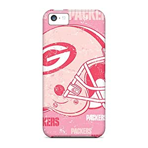 Shock Absorption Cell-phone Hard Cover For Iphone 5c (Tdp5719ULbZ) Allow Personal Design Fashion Green Bay Packers Skin