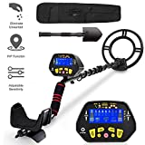 RM RICOMAX Metal Detector for Adults -【High-Accuracy】 Metal Detector Waterproof LCD Display 【P/P Function & Discrimination Mode & Distinctive Audio Prompt】 10 Inch Waterproof Search Coil Underwater