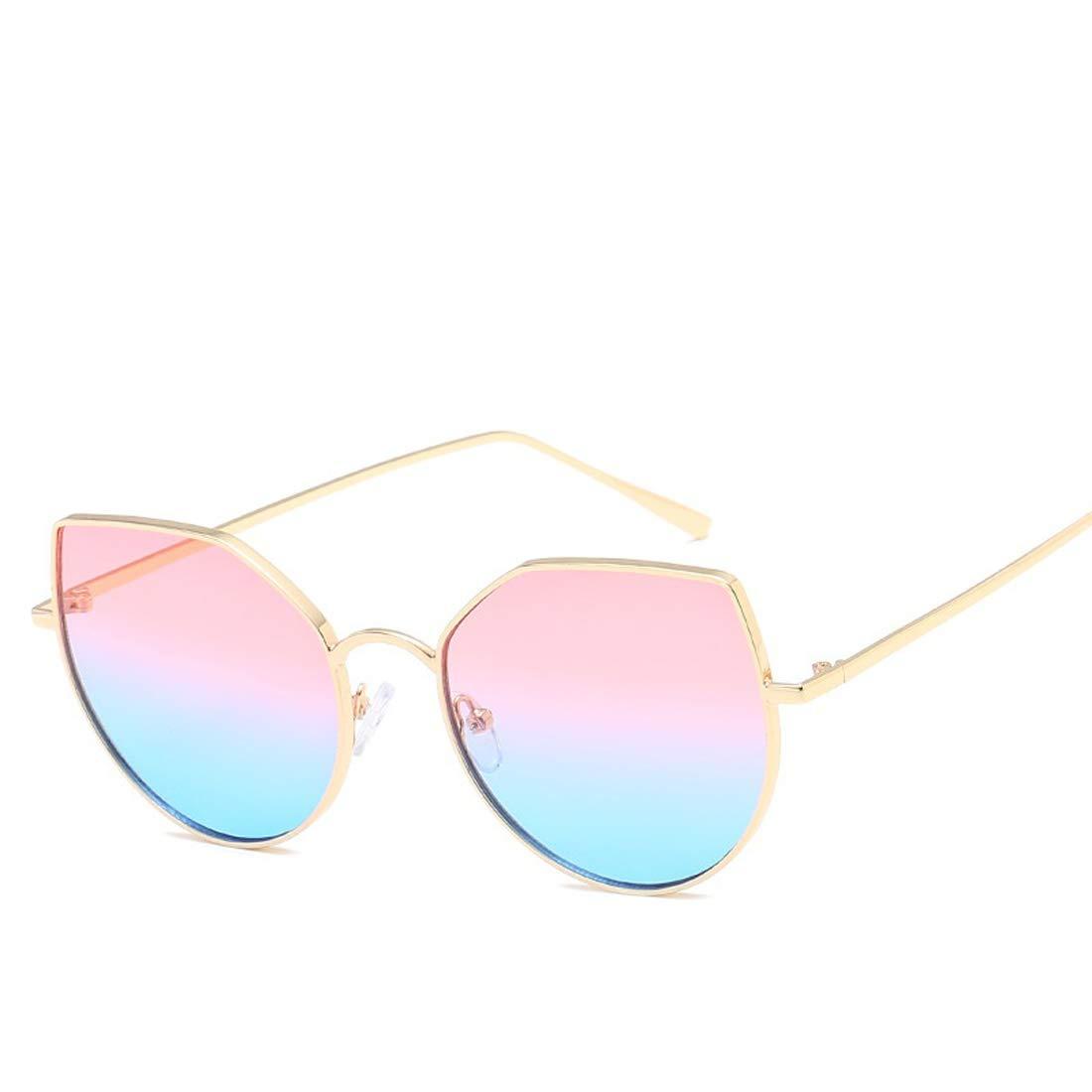 Wsunglass New metal Cat Eye Sunglasses Fashion colorful ocean Sunglasses men and women general trend Sunglasse/_1