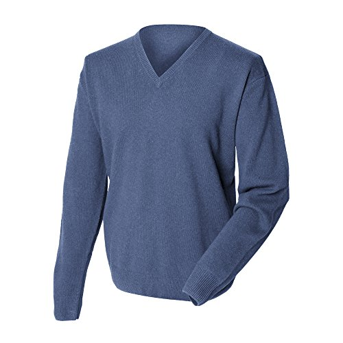 Modelo Lana Woolmark® Cordero Henbury Botella De Sweater Jersey Verde Cuello Pico Hombre Caballero wqqA0OI