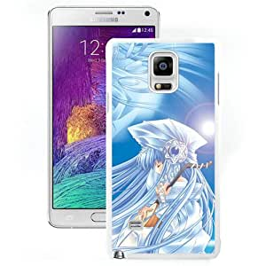 Popular And Unique Designed Cover Case For Samsung Galaxy Note 4 N910A N910T N910P N910V N910R4 With Girl Blue Hair Musical Instrument Sky white Phone Case