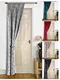 umlout Rajpur Grey Thermal Crush Velvet Winter Door Curtains- Saves Energy, Prevents Draughts Reduces Heat Loss