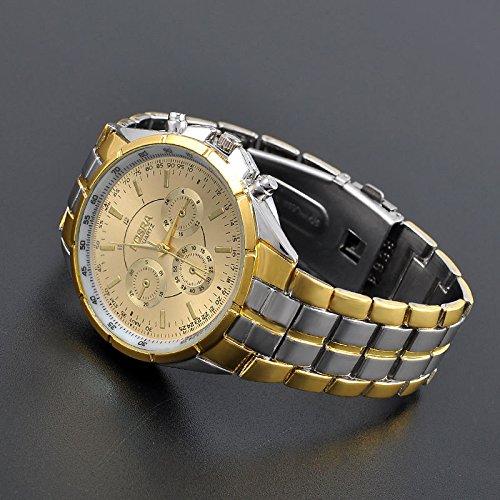 cs-dbメンズラグジュアリー日付ダイヤルステンレススチールアナログクオーツ手首時計ギフト B01KFAMO2G