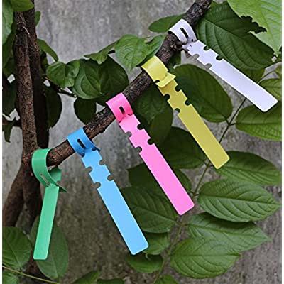 Useekoo Plant Labels, 600 Psc Plastic Wrap Around Plant Tags Waterproof Nursery Garden Labels(21x2cm, 5colors): Garden & Outdoor