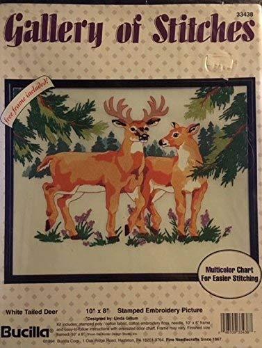BUCILLA-스탬프 자수 그림-스티치의 갤러리-흰 꼬리 사슴-33438