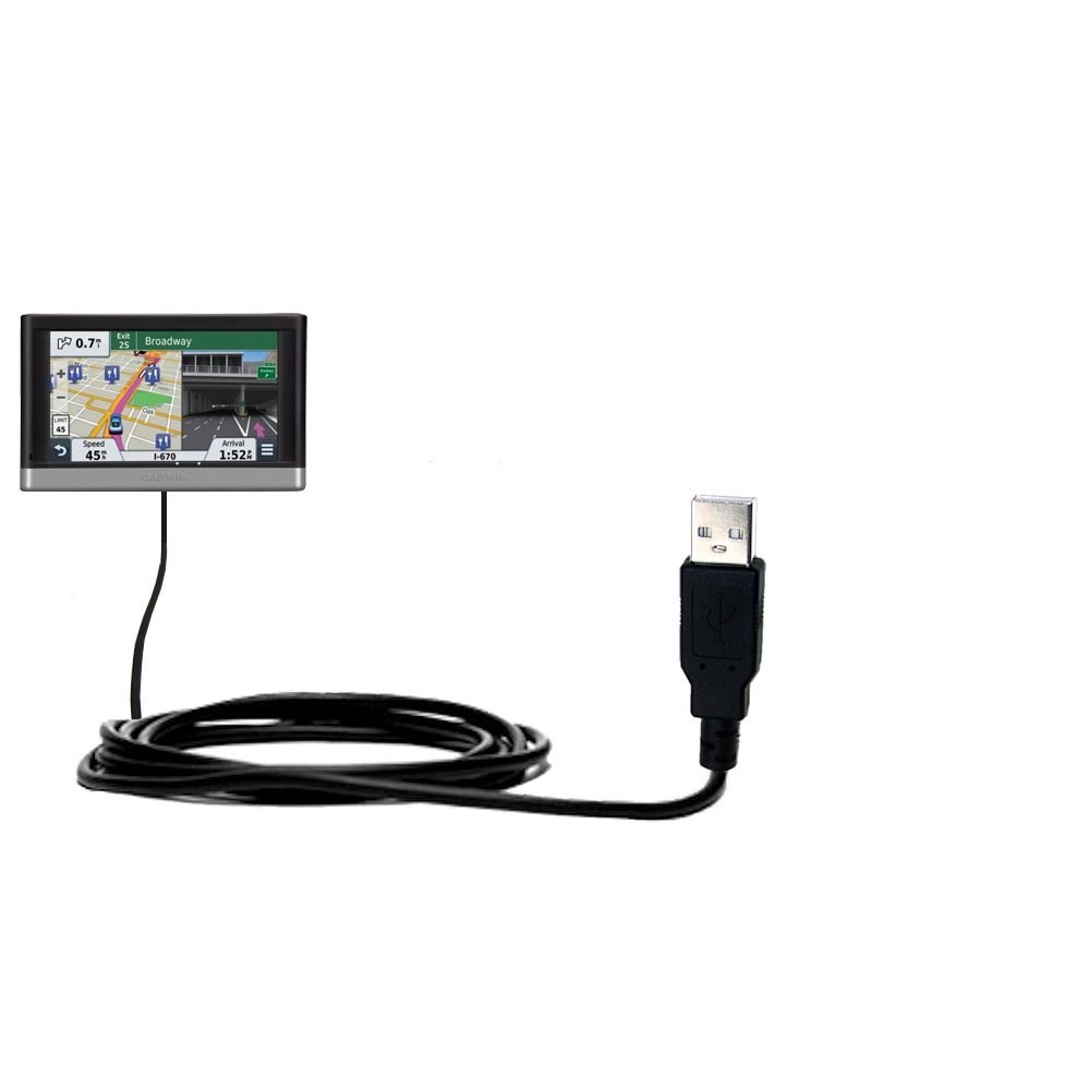 Classic Straight USB Cable for the Garmin nuvi 2557 / 2577 / 2597 LMT with Power Hot Sync and Charge Capabilities - Uses Gomadic TipExchange Technology