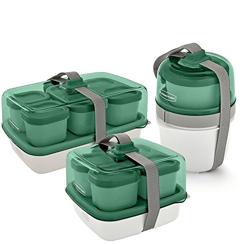 Lunch Containers Rubbermaid Fasten Go Sandwich Kit Sea Foam Green
