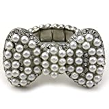 Cute Lovely Big Ribbon Bow Tie Bowknot Cocktail Ring Adjustable Stretch Band Jewelry