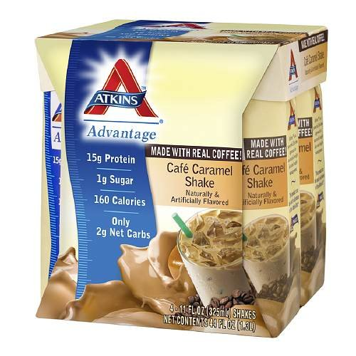 Atkins Advantage Easy to Drink Cafe Caramel Delight 4 ea(Pack of 3)