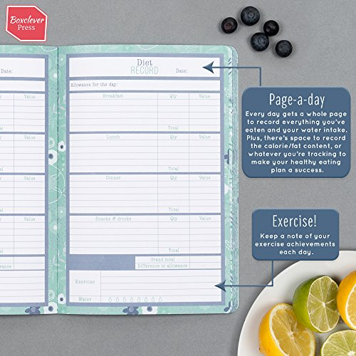 Boxclever Press Food, Diet & Weight Loss Journal. Get beachbody Ready with This Gorgeous Food Diary Notebook for Any Slimming and Fitness Plan. Weight Loss Tracker. Reach Your Health & Dieting Goals. Photo #3