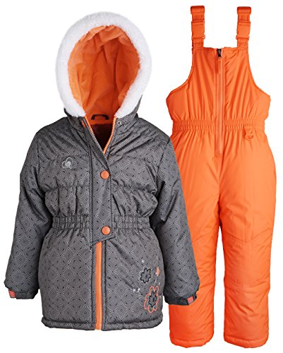 rugged bear little girls water resistant puffer jacket and. Black Bedroom Furniture Sets. Home Design Ideas