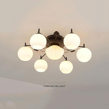 2018 Ceiling Light, Northern Europe Lámpara de techo LED, Iron Art ...
