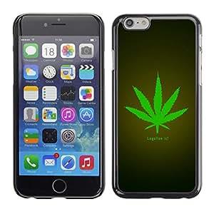 TECHCASE**Cubierta de la caja de protección la piel dura para el ** Apple iPhone 6 Plus 5.5 ** Legalize Cannabis Hemp Weed Green Herbal
