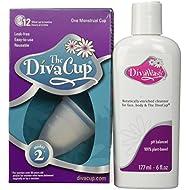 Diva Model 2 Cup Menstrual Solution and Divawash