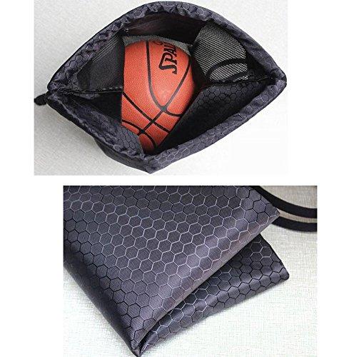Faltbarer Basketball-Rucksack-Tunnelzug-Beutel-Eignung-Beutel, Marine