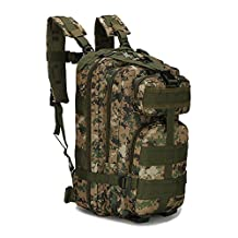 ECHI 3P Tactical Backpack, Military Water Repellent Hiking Camping Rucksacks for Outdoor Hiking Camping Trekking Hunting
