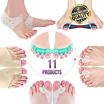 Orthopedic Bunion Corrector & Bunion Relief Elastic Sleeve Protectors, Gel Separators Spacer Spreader, Hammer Turf Big Toe Brace Straightener Splint, ...