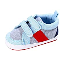 Xiting Baby Boys Girls Cotton Soft Sole Outdoor Sneaker First Walkers Shoes (Light Blue, 2(US:3))