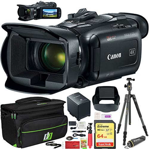 Canon Vixia HF G50 4K UHD Ultra HD Video Camcorder with 20x Optical Zoom Lens Includes Deco Gear Professional Camera Case and Vanguard VEO 2 204AB Tripod + Cleaning Kit Accessory Set Essential Bundle Camcorder Lens Cleaning Kit