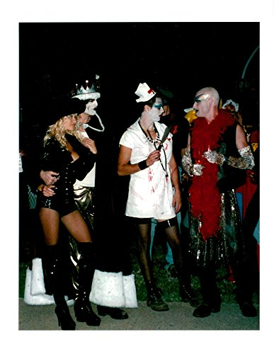 Vintage photo of Pamela Anderson at masquerade with friends (Pamela Anderson Costumes)